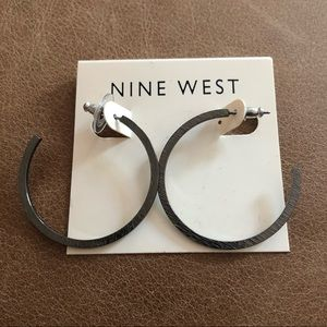 Nine West hoop earrings